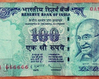 100 Rs with 666666 amazing number