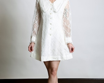 1960s Womens Lace Dress
