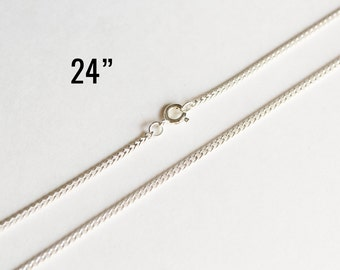 """10 Silver Necklaces - Curb Chain - Shiny - Petite - 2x2mm - 24"""" - Ships IMMEDIATELY from California - CH617"""