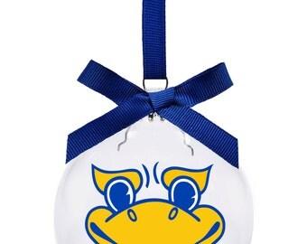 Kansas University KU Jayhawks Beak Christmas ornament