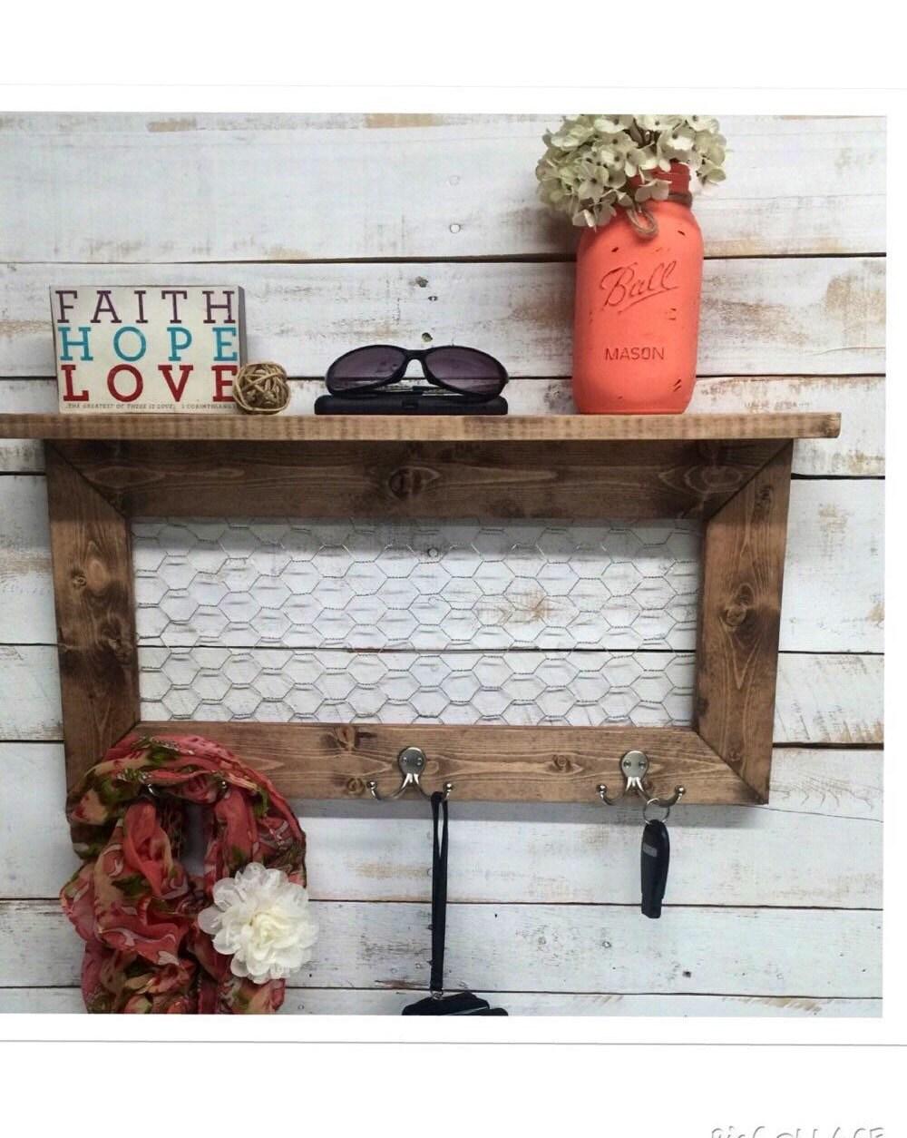 Rustic Home Decor Entry Way Shelves Entryway Shelf Coat