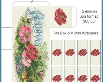 Vintage Floral Tall Box