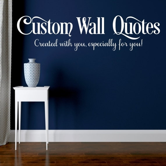Create your own Custom Wall Decal or Wall by
