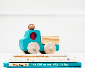 Wooden Toy Pick-up Truck // Peg Doll Pick-up Truck // Toy Pick-up Truck // Toy Truck // Wooden Vehicle // Wooden Toys