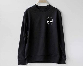 Alien Sweatshirt Sweater Ugly Christmas Sweater Unisex