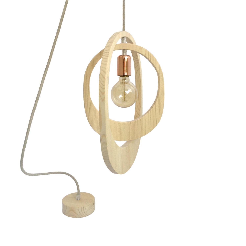 Geometric Orbit Wooden Pendant Light Wooden Lighting Ceiling