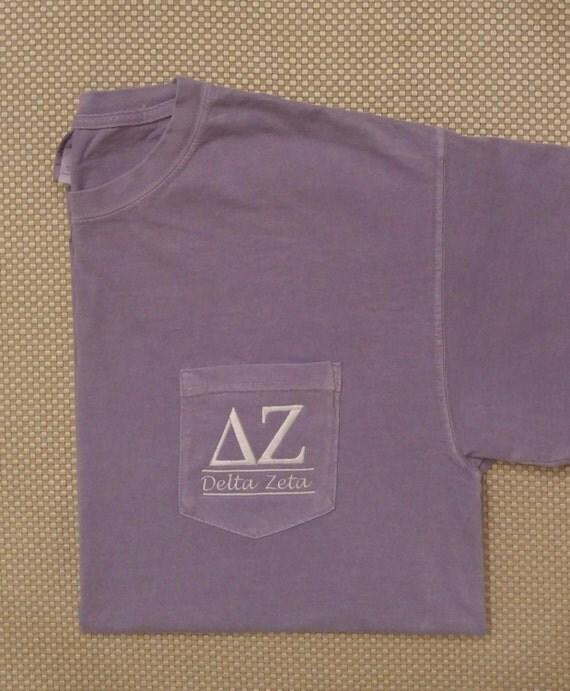 Sorority shirts delta zeta sorority t shirt by for Frat pocket t shirts