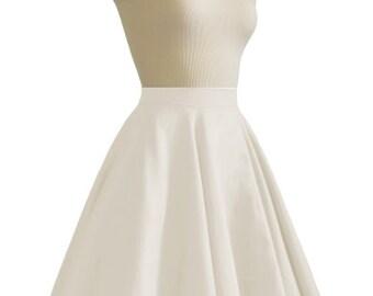 JULIETTE Ivory Rockabilly Swing Rock 'n Roll Skirt//Full Circle Ivory Skirt//Retro Mod 50s style Skirt//Party Skirt XXS-3X