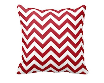 red throw pillow cover red chevron pillow cover red zig zag pillow modern pillow decorative pillows