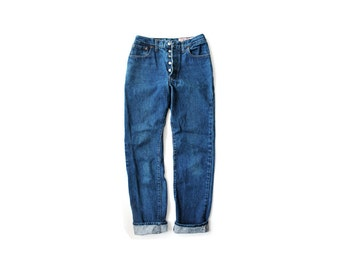 1970's Levi's 501 Shrink to Fit Dark Wash Denim Jeans USA