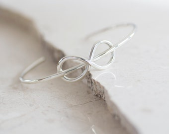 Sterling Silver Infinity Cuff, Valentine's Day Gift, Handmade Jewelry, Everyday Jewelry, Romantic Jewelry by Prairieoats