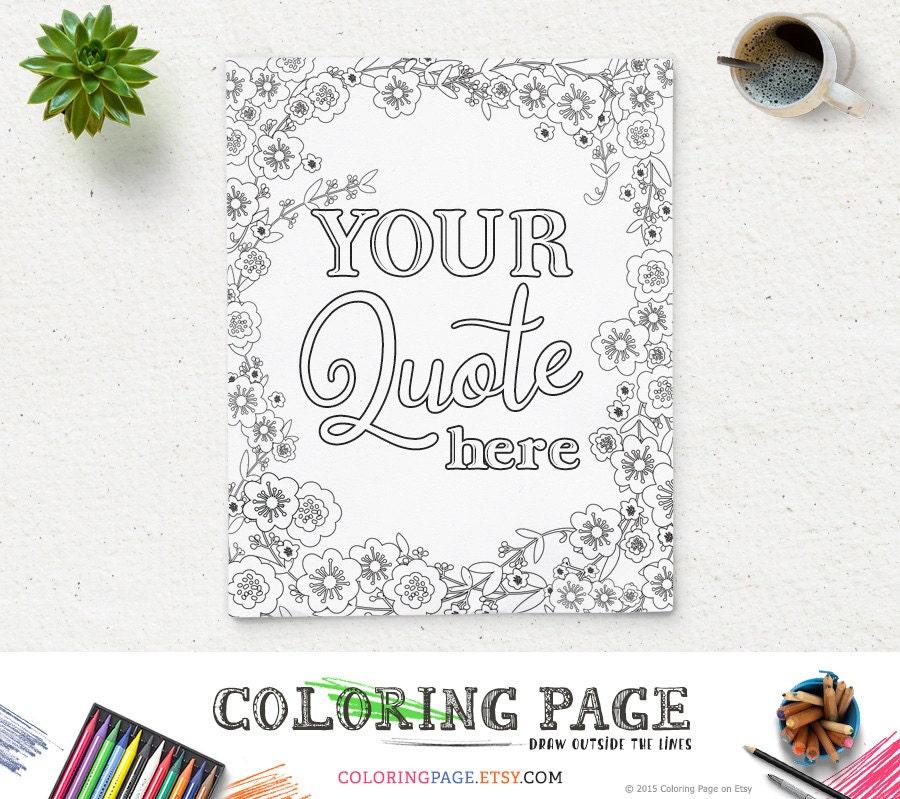 Printable Coloring Page Custom Design