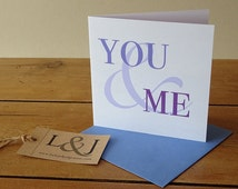 Romantic card - love card for husband - wife anniversary - valentines card - marriage card - wedding day card - boyfriend gift
