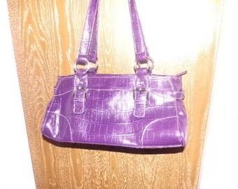 Vintage East 5th handbag, Purple handbag, like new handbag, purple purse, New old handbag, gift for her