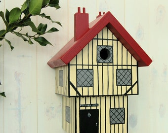 Tudor House Personalised Bird Box / Hand-made Birdhouse / Garden Gift / Period Home Gift