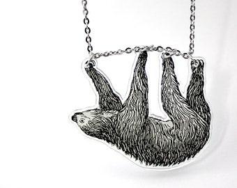 Acrylic Necklace SLOTH I Finart-Jewellery