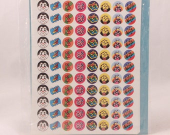 Vintage Hallmark Mini Stickers. 4 sheet Stickers. Sleeved