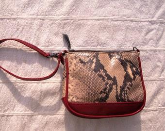 Donald J. Pliner Leather & Snakeskin Year Around Evening Bag