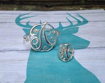 Initial Bracelet & Ring Set  Bridesmaids Birthdays