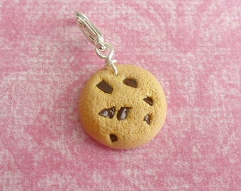 Chocolate Chip Cookies Miniature Food Jewelry Charms Polymer Clay Charms