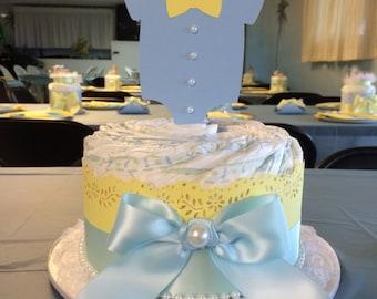Onesie diaper cake/ onesie baby shower