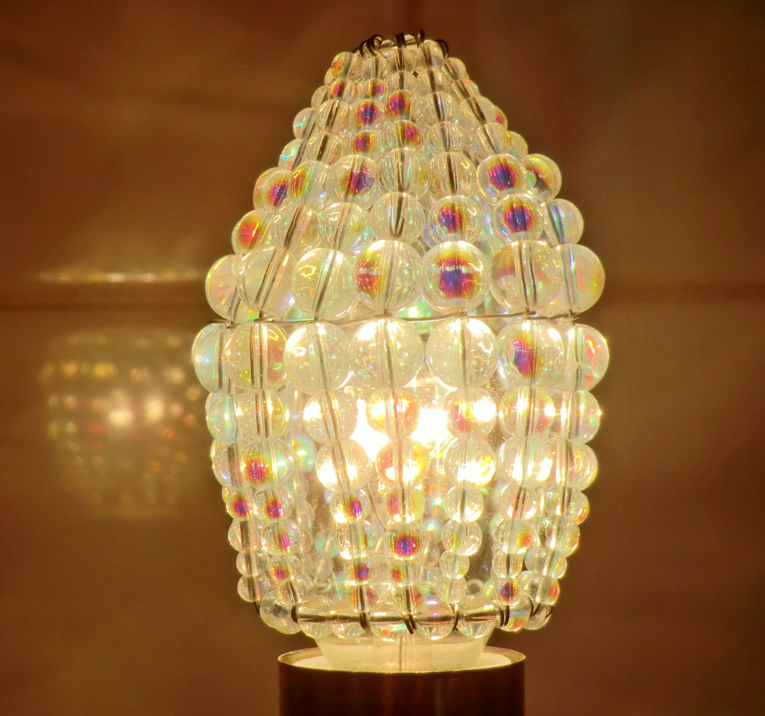 Chandelier Inspired Moroccan Chic Look Glass Bead Light Bulb