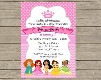DIY - Princess Invitations/Childrens Party Invitations