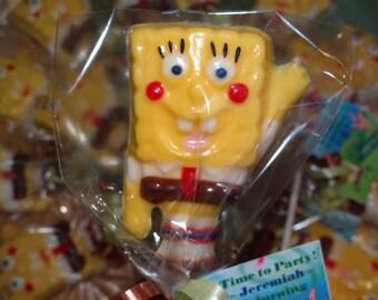 12 Spongebob Square Pants Chocolate Lollipops