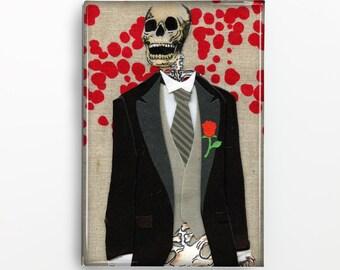Day of the Dead Skeleton Groom Rectangle Magnet 110