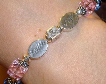 Pregnancy and Infant Loss Bracelet, Awareness Bracelet, Faith & Joy, Angel Baby, Woman Gift, Birthday Gift, Christmas Gift