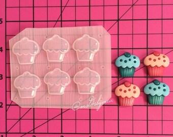 ON SALE Cute mini deco cupcake flexible plastic resin mold palette