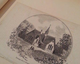 homey etching of a quaint church