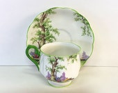 Royal Albert Greenwood Tree Bone China Tea Cup and Saucer Set 774783 England Teacup Vintage Tea Party Trees Flowers