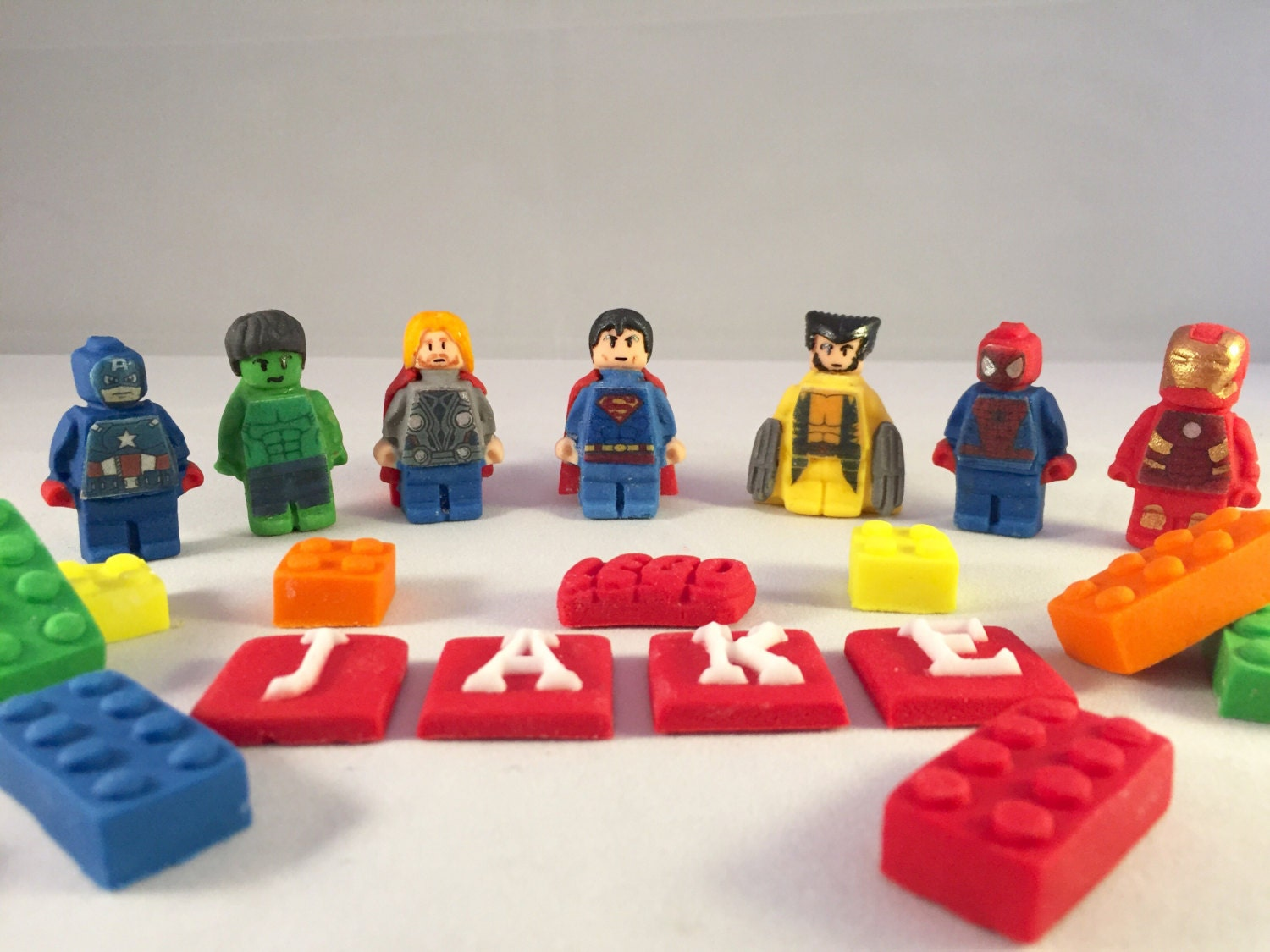 Edible Lego Marvel Cake Topper by SweetsCakeToppers on Etsy