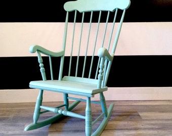 The Miranda Rocking Chair in Kentucky Blue