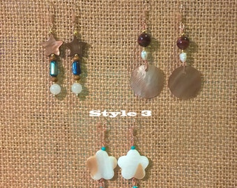 Beautiful Pair of Sea Shell Earrings