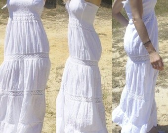 Dress Ibiza/adlib / boho dress / white