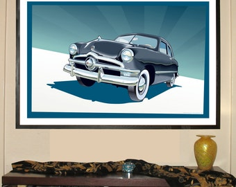 """1950 Ford Coupe 24""""w x 36""""h Giclee"""