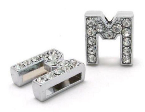 items similar to slide charm letter m individual 8mm full With individual letter beads bulk