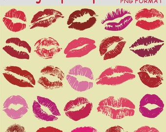 Lips Clipart, Kissing Clipart, Woman Lips, kiss clip art, Valentine's Day Clipart, Mouth Clipart, Red Lips Clipart, Digital Download