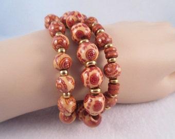 3 Wood Stretch Bracelets