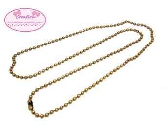 10 necklaces Bronze 70cm ball chain
