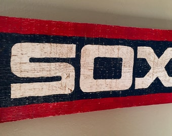 Hand Painted, Vintage Styled Chicago White Sox Sign / Plaque