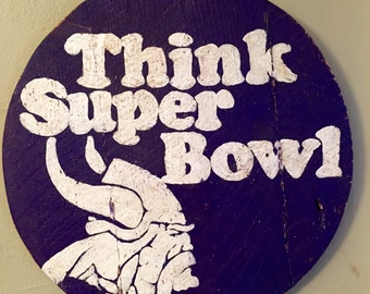 Hand Painted Vintage Style Minnesota Vikings Sign