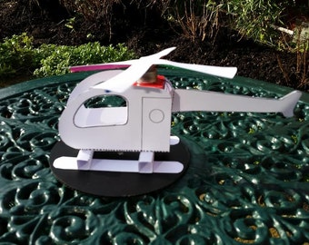 Solar Powered helicopter model kit- made from card