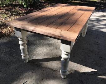Husky Turned Leg Farmhouse Table