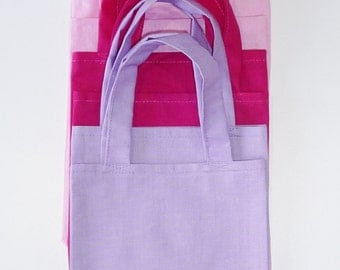 6 Girls party/goodie/loot bag. 100% cotton. Great idea for a Spa/Pamper party.