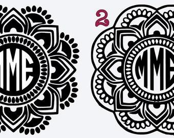 Mandala Car Decals Personalized