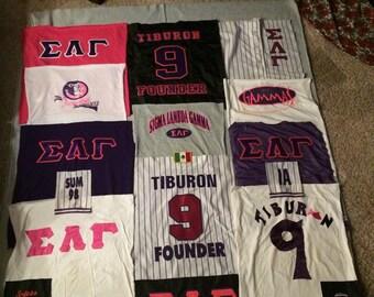 Joella's t-shirt quilt part 2