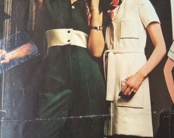 Gorgeous Jumpsuit and Coatdress pattern by Chuck Howard Vogue Americana 2370
